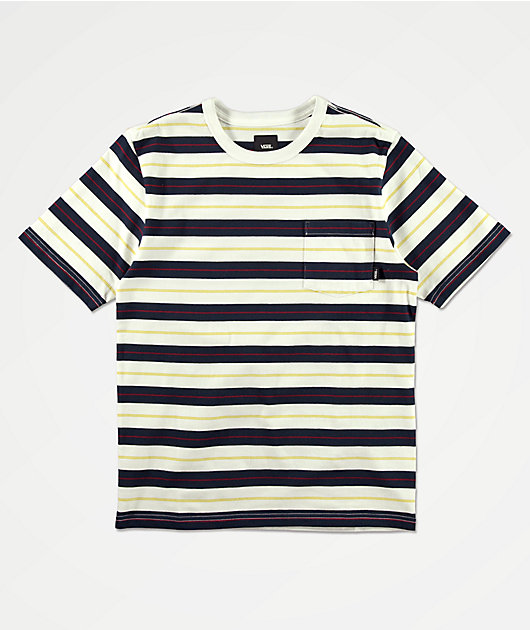 Vans Boys Harmon Blue & White Striped Knit T-Shirt