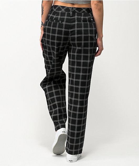 Vans Breana Authentic Black Plaid Pants
