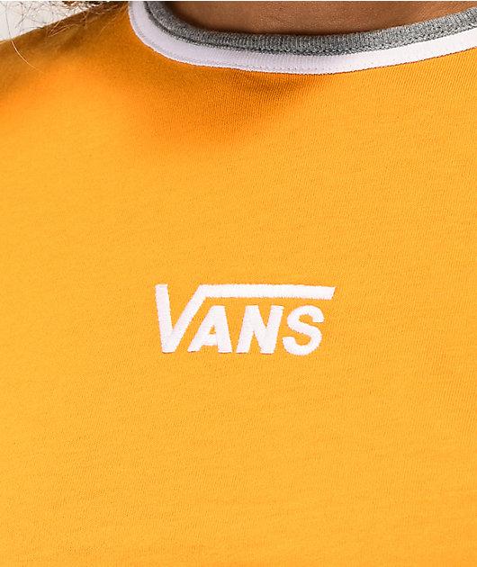 Vans Cadmium Ringer camiseta amarilla y gris