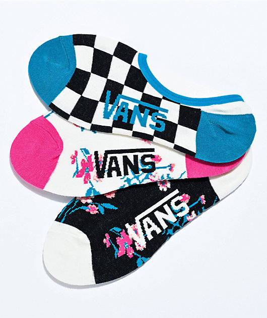Vans Canoodle Beauty Floral 3 Pack No Show Socks