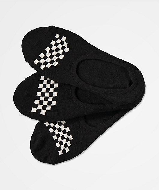 Vans Canoodle Black 3 Pack No Show Socks