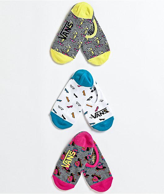 Vans Canoodle Skate Fruit 3 Pack No Show Socks