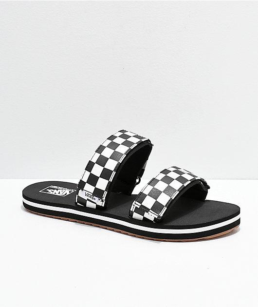 Vans Cayucas Checkerboard 2 Strap Slide Sandals