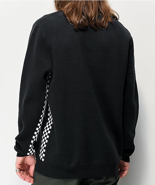 Vans Centella suéter negro y de cuadros