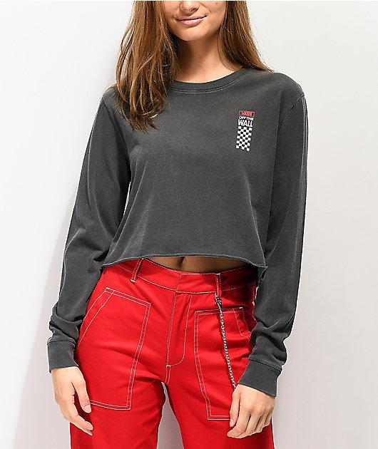 Vans Checkerboard camiseta negra de manga larga