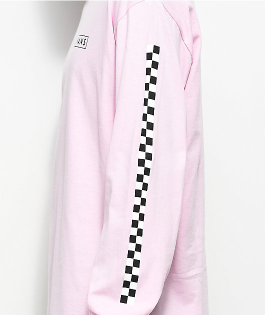 Vans Checkmate Pink & White Long Sleeve T-Shirt