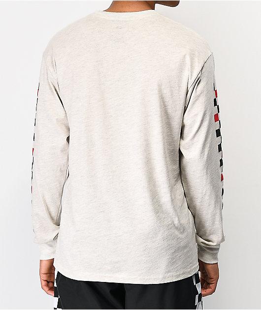 Vans Checkmate gris camiseta de manga larga