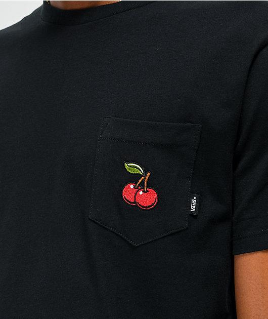 Vans Cherries Pocket Black T-Shirt