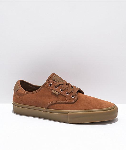 Vans Chima Ferguson Brown & Gum Skate Shoes