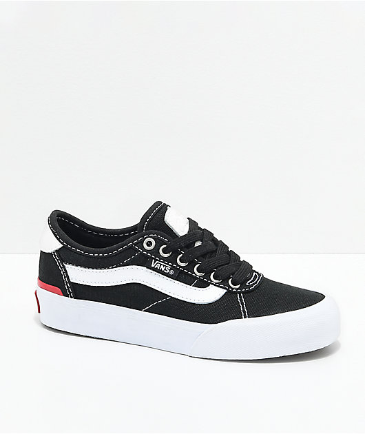 Vans Chima Pro 2 White & Black Skate Shoes