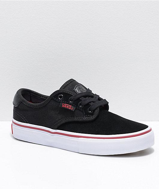 Vans Chima Pro Black, Red \u0026 White Skate