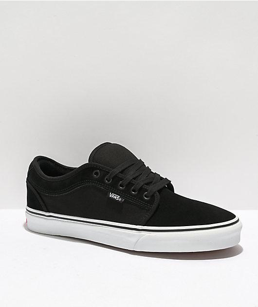 Estimado Diacrítico Cósmico  Vans Chukka Low Black & White Suede Skate Shoes | Zumiez