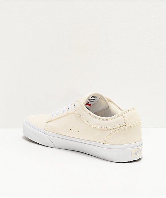 Vans Chukka Low Pro Marshmallow & True White Skate Shoes