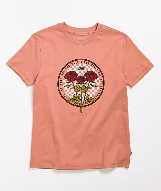 Vans Circle Check Rose Boyfriend T-Shirt