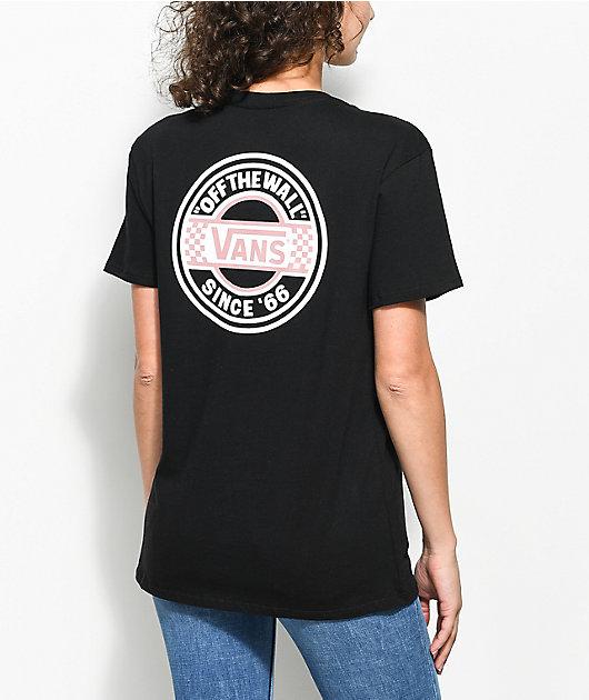 Vans Circle camiseta negra extra grande