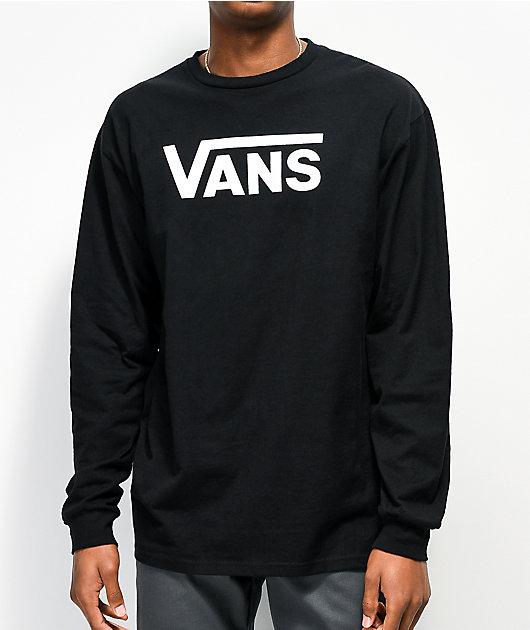 Vans Classic Black Long Sleeve T-Shirt