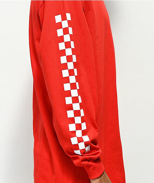 Vans Classic Circle V Red Long Sleeve T-Shirt