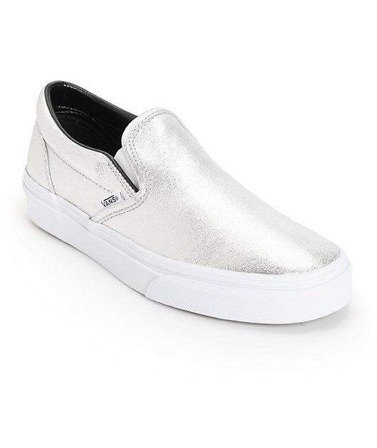 Vans Classic Silver Metallic Slip-On