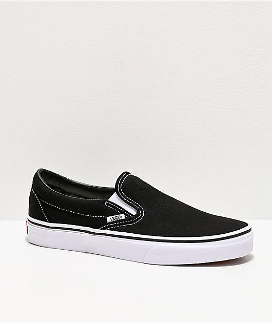 Vans Classic Slip On Black & White Shoes
