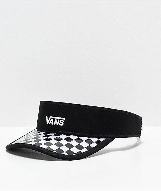 Vans Clear Cut Black & Checkerboard Visor