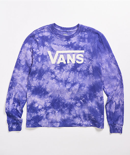 Vans Clouds Flying V Purple Long Sleeve T-Shirt