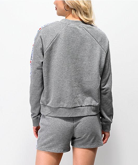 Vans DNA Taping Grey Crew Neck Sweatshirt