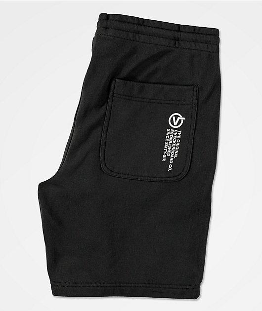 Vans Distort Type Black Sweat Shorts
