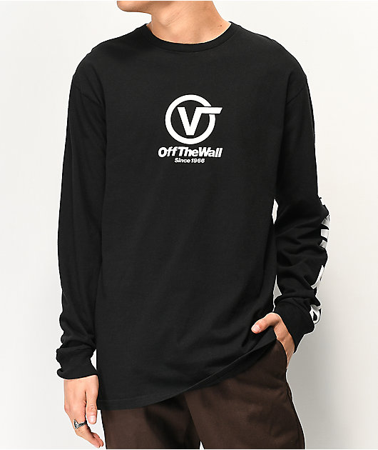 Vans Distorted Performance Black Long Sleeve T-Shirt