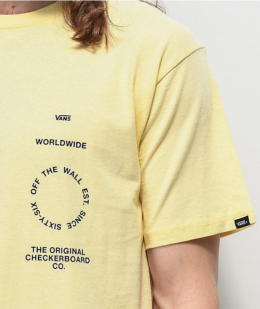 Vans Distortion Type camiseta de color crema