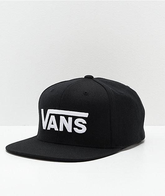 Vans Drop V II Black & White Snapback Hat