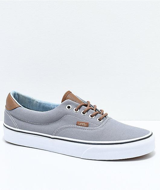 Vans Era 59 C&L Frost Grey & Acid Denim Skate Shoes