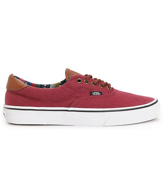 Vans Era 59 Tawny Port & Guate Canvas Skate Shoes