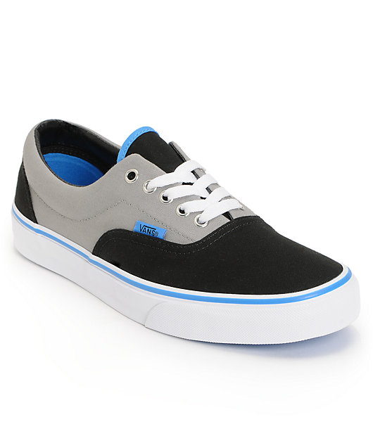 Vans Era Black, Grey, \u0026 Blue Skate