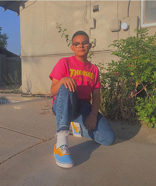 Vans Era Bright Color Blocked Skate Shoes
