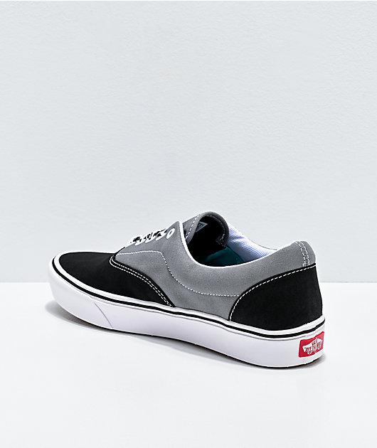 Vans Era ComfyCush Lace Mix Black & Grey Skate Shoes