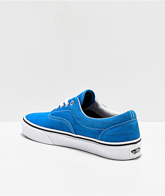 Vans Era Emboss Blue & White Skate Shoes