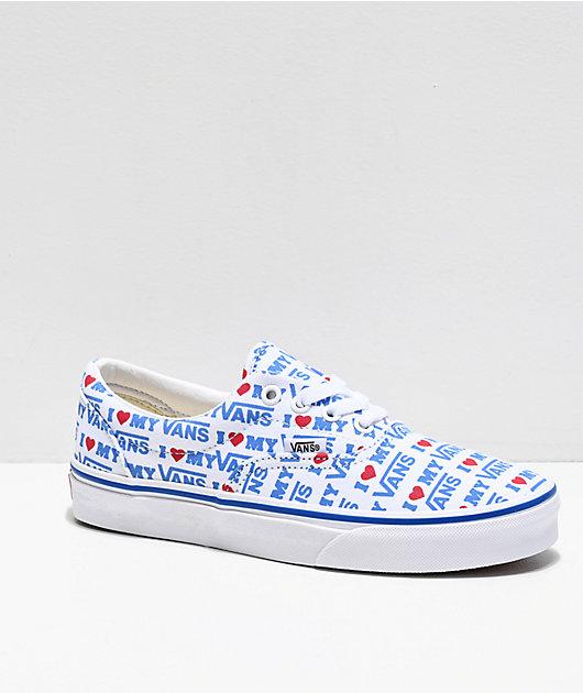 Vans Era I Heart Vans White \u0026 Blue