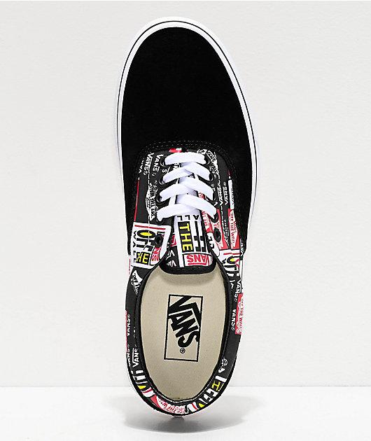 Vans Era Label Mix zapatos de skate negros y blancos