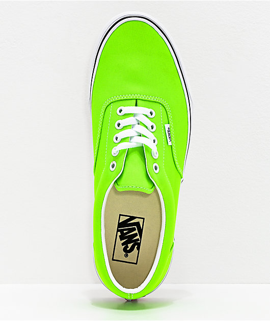Vans Era Neon Gecko Green & White Skate Shoes