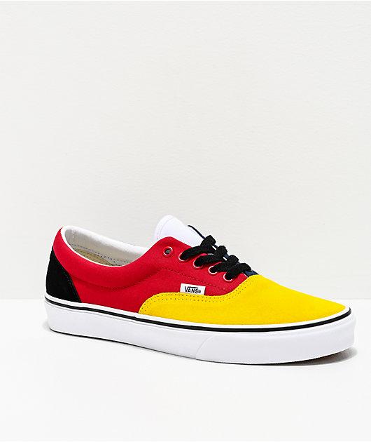 Vans Era Rally Yellow, Red, White