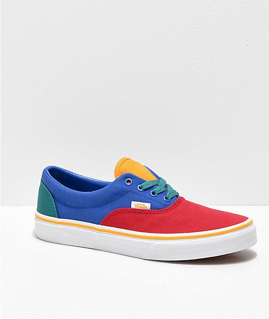 Vans Era Red, Blue \u0026 Yellow Skate Shoes