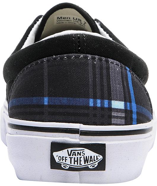 Vans Era Scout Black Plaid Skate Shoes | Zumiez
