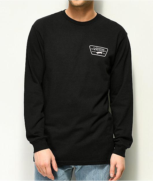 Vans Full Patch Black & Violet Long Sleeve T-Shirt