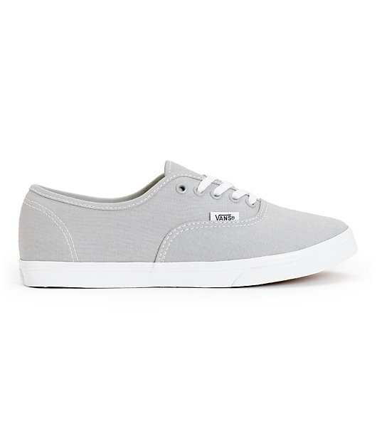 Vans Girls Authentic Lo Pro High Rise Grey & True White Shoes