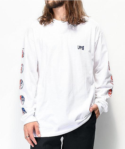 Vans Gradient Skull White Long Sleeve T-Shirt