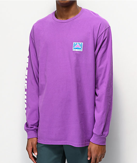 Vans HI Point Dewberry camiseta morada de manga larga