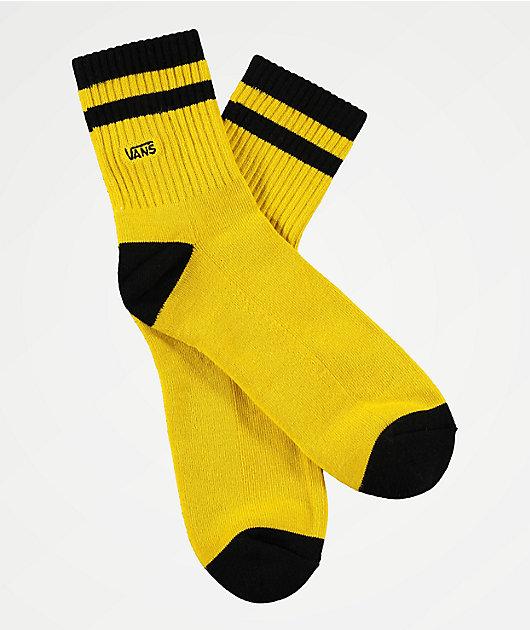 Vans Half Sulpher & Black Crew Socks