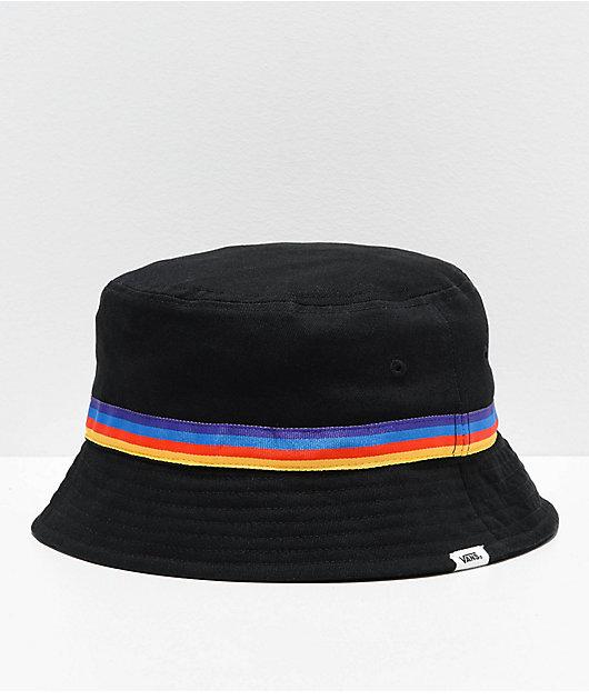 Vans Hankley Black & Rainbow Bucket Hat