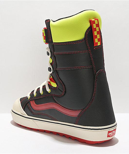Vans Hi-Standard Linerless DX Black & Neon Snowboard Boots 2022