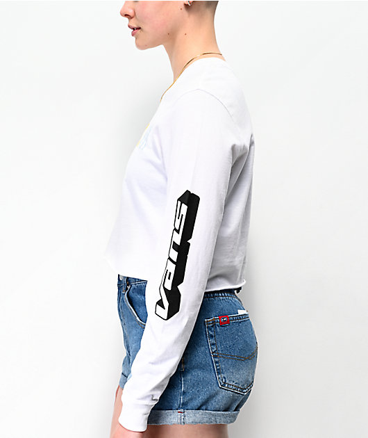 Vans High Performance White Crop Long Sleeve T-Shirt